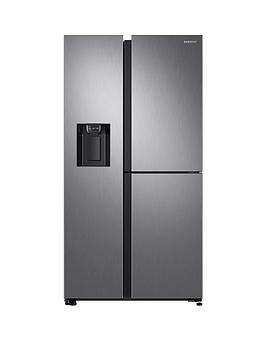 Samsung Rs68N8670S9/Eu French Door Frost Free Fridge Freezer With Plumbed Ice, Water Dispenser And 5 Year Samsung Parts And Labour Warranty - Matt Silver