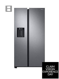 Samsung RS68N8240S9/EU America Style Frost Free Fridge Freezer with Plumbed Water and Ice Dispenser - Matt silver