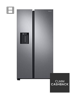 samsung-rs68n8240s9eu-american-style-frost-free-fridge-freezer-with-plumbed-water-ice-dispensernbsp-nbspmatt-silver-doorstep-delivery-only