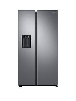 Samsung Rs68N8240S9/Eu American Style Frost Free Fridge Freezer With Plumbed Water, Ice Dispenser - Matt Silver