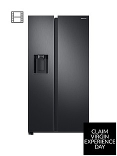 Samsung RS68N8230B1/EU America Style Frost Free Fridge Freezer with Plumbed Water andIce Dispenser - Black