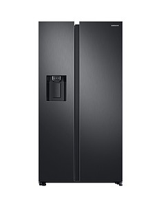 Samsung RS68N8230B1/EU American Style Frost Free Fridge Freezer with Plumbed Water, Ice Dispenser and 5- Year Samsung Parts and Labour Warranty - Black