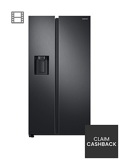 samsung-rs68n8230b1eu-american-style-frost-free-fridge-freezer-with-plumbed-water-ice-dispenser-black-doorstep-delivery-only