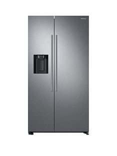 Samsung RS67N8210S9/EU America Style Frost-Free Fridge Freezer with Plumbed Water and Ice Dispenser - Matt Silver, 5 Year Samsung Parts and Labour Warranty