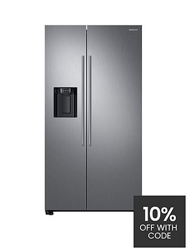 samsung-rs67n8210s9eu-america-style-frost-free-fridge-freezer-with-plumbed-water-ice-dispenser--nbspmatt-silver-doorstep-delivery-only