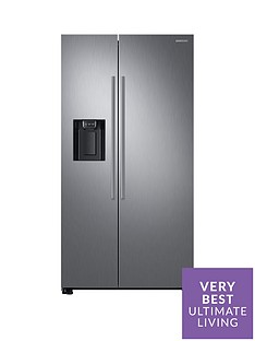 Samsung RS67N8210S9/EU America Style Frost-Free Fridge Freezer with Plumbed Water, Ice Dispenser - Matt Silver Best Price, Cheapest Prices