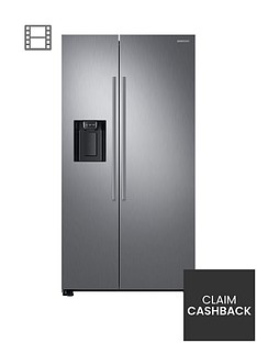 samsung-rs67n8210s9eu-america-style-frost-free-fridge-freezer-with-plumbed-water-ice-dispenser-and-5-year-samsung-parts-and-labour-warranty--nbspmatt-silver