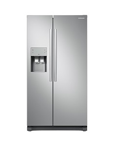 Samsung RS50N3513SA/EU America Style Frost Free Fridge Freezer with Plumbed Water and Ice Dispenser - Graphite, 5 Year Samsung Parts and Labour Warranty