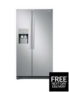 samsung-rs50n3513saeu-america-style-frost-free-fridge-freezer-with-plumbed-water-and-ice-dispenser-graphite-5-year-samsung-parts-and-labour-warranty