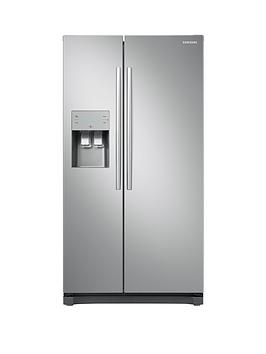 Samsung Rs50N3513Sa/Eu American Style Frost Free Fridge Freezer With Plumbed Water, Ice Dispenser - Graphite