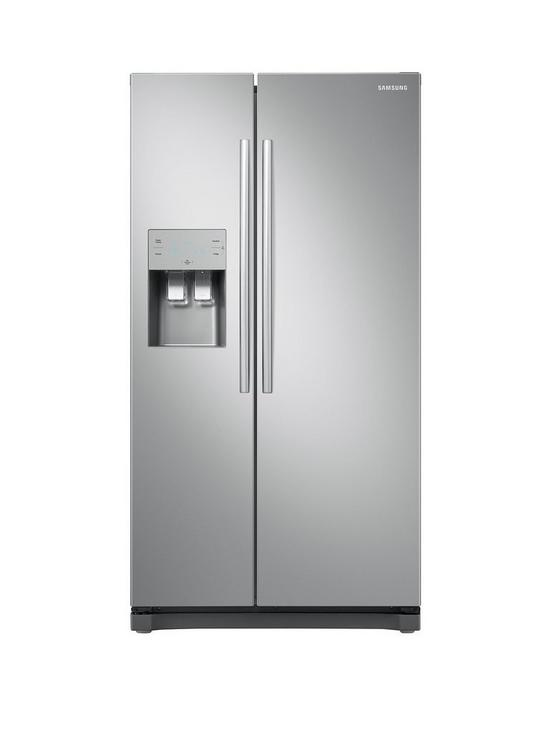 RS50N3513SA/EU American Style Frost Free Fridge Freezer with Plumbed Water,  Ice Dispenser and 5 Year Samsung Parts and Labour Warranty - Graphite