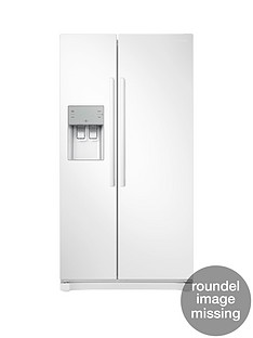 Samsung RS50N3513WW/EU America Style Frost-Free Fridge Freezer with Plumbed Water and Ice Dispenser - White, 5 Year Samsung Parts and Labour Warranty