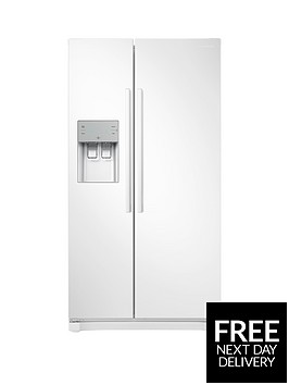 samsung-rs50n3513wweu-america-style-frost-free-fridge-freezer-with-plumbed-water-and-ice-dispenser-white-5-year-samsung-parts-and-labour-warranty