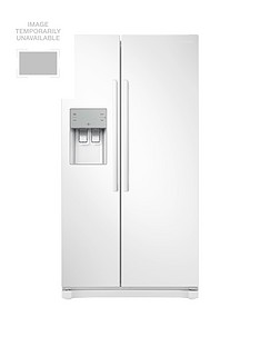 Samsung RS50N3513WW/EU America Style Frost-Free Fridge Freezer with Plumbed Water, Ice Dispenser and 5 Year Samsung Parts and Labour Warranty - White