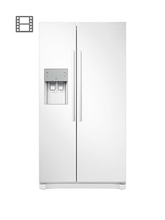 Samsung RS50N3513WW/EU America Style Frost-Free Fridge Freezer with Plumbed Water, Ice Dispenser - White Best Price, Cheapest Prices