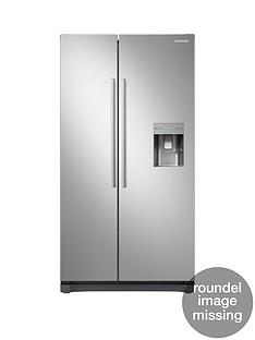 Samsung RS52N3313SA/EU America Style Frost Free Fridge Freezer with Non Plumbed Water Dispenser - Graphite, 5 Year Samsung Parts and Labour Warranty