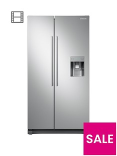 samsung-rs52n3313saeu-american-style-frost-free-fridge-freezer-with-non-plumbed-water-dispenser-and-5-year-samsung-parts-and-labour-warranty--nbspgraphite