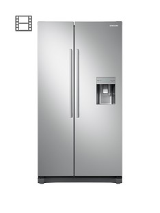 Samsung RS52N3313SA/EU American Style Frost Free Fridge Freezer with Non Plumbed Water Dispenser - Graphite
