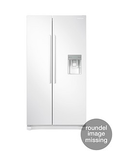 Samsung RS52N3313WW/EU America Style Frost Free Fridge Freezer with Non Plumbed Water Dispenser - White, 5 Year Samsung Parts and Labour Warranty