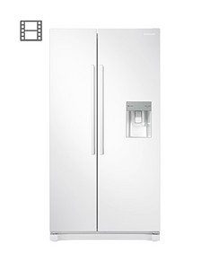 Samsung RS52N3313WW/EU America Style Frost Free Fridge Freezer with Non Plumbed Water Dispenser - White Best Price, Cheapest Prices