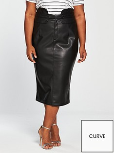 v-by-very-curve-pu-highwaisted-pencil-skirt