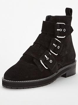 office-artillerynbspsuede-buckle-ankle-boots-black