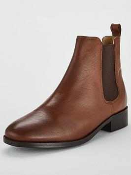 Office Bramble Leather Ankle Boot - Tan