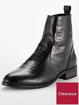 office-ashleigh-crocodile-look-leather-ankle-boots-black