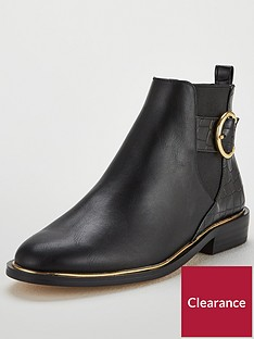 office-alexander-buckle-ankle-boots-black