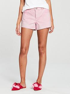 v-by-very-acid-wash-denim-short-pink