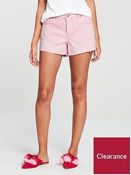 v-by-very-acid-wash-denim-short-pink