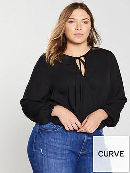 v-by-very-curve-wrap-woven-bodysuit-black