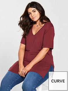v-by-very-curve-v-neck-longline-t-shirt-merlotnbsp