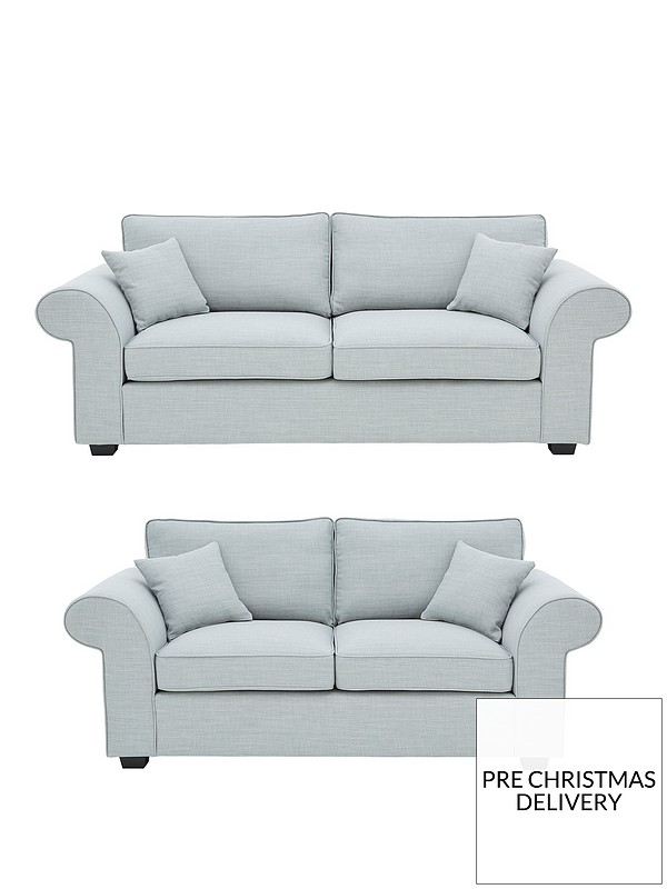 Victoria Fabric 3 Seater + 2 Seater Sofa Set (Buy and SAVE!)