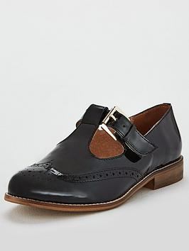 Office Fop T-Bar Flat Shoe - Black