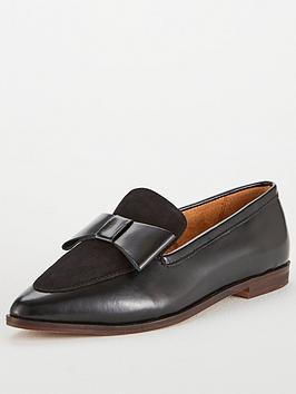 office-flaunt-pointed-leather-slip-on-loafer-shoes-black