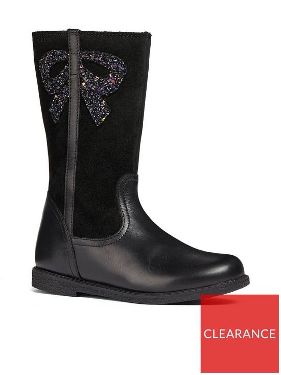 11a0aa2c97cf Geox Geox Girls Shawntel Glitter Bow Knee Boot