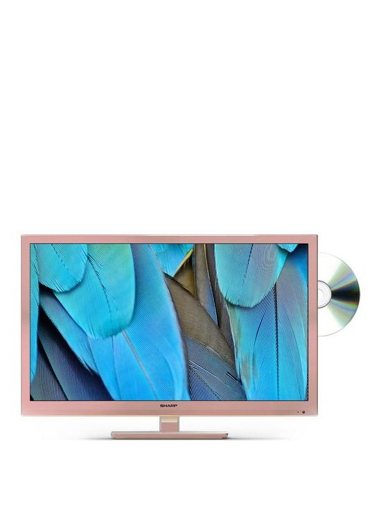 LC-24DHF4011KR, 24 inch, HD Ready, Freeview HD, TV with DVD Player - Rose  Gold