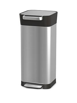 joseph-joseph-titan-20-litre-trash-compactor-bin-ndash-stainless-steel