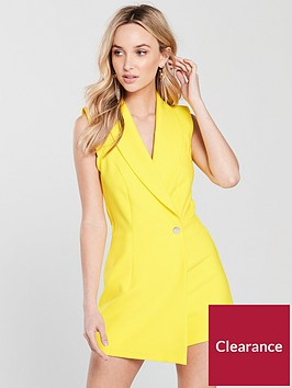 river-island-tux-playsuit-bright-yellow