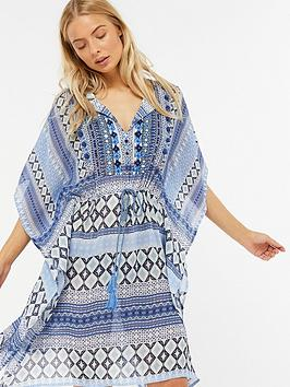 monsoon-lola-longline-kaftannbsp--blue-printed