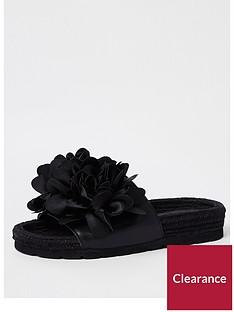 river-island-floral-detail-espadrille-black