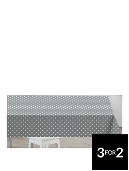 sabichi-grey-polka-dot-pvc-tablecloth