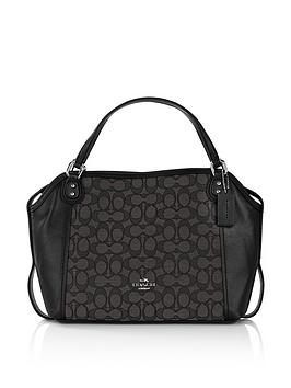 coach-edie-28-signature-tote-bag-black