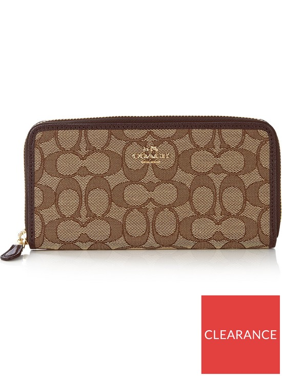 9105184a Signature Zip Around Wallet - Tan
