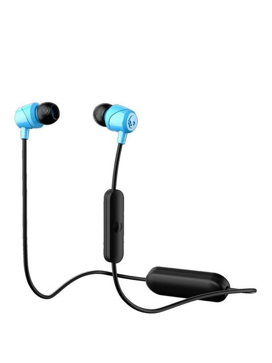 98ac4558478 Skullcandy JIB Wireless Bluetooth In-Ear Headphones with Built-In Microphone  – Blue/Black
