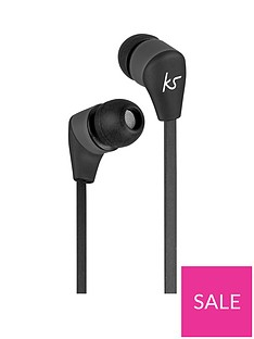 Kitsound Bounce Wireless Bluetooth In-Ear Headphones with Track Controls – Black