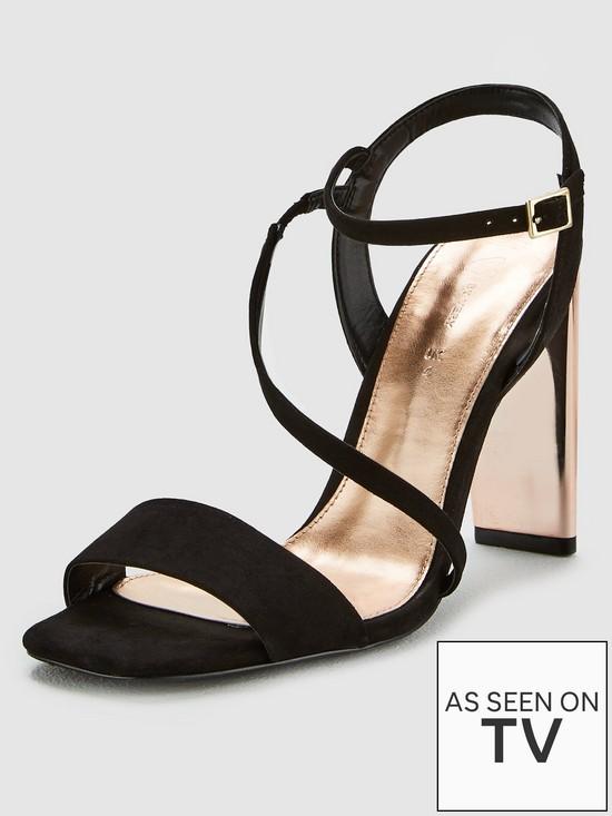 c46a4c8c6c52 V by Very Britney Square Toe Asymmetric Strap Sandal
