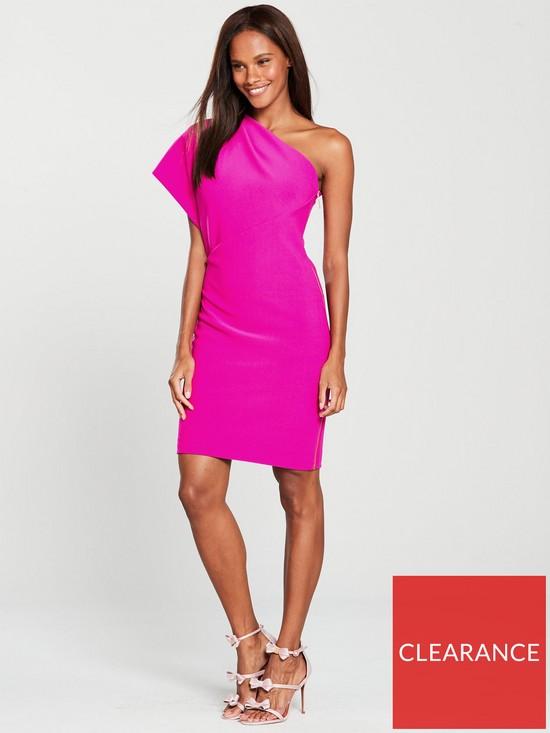 1e5dd7cd Ted Baker Ted Baker Bettiea Pleat Fold One Shoulder Dress | very.co.uk