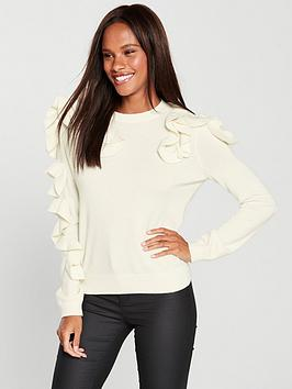 ted-baker-pallege-frill-sleeve-jumper-ivorynbsp